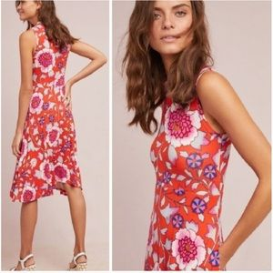Anthropologie Sz Md Cleary Floral Dress